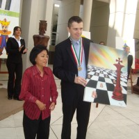 La artista plástica del ajedrez en México