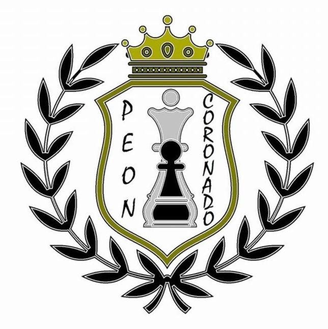 Logo club de ajedrez peón pasado de Playa del Carmen.