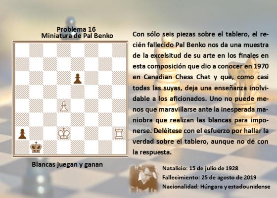 Problema de ajedrez Blancas juegan y ganan