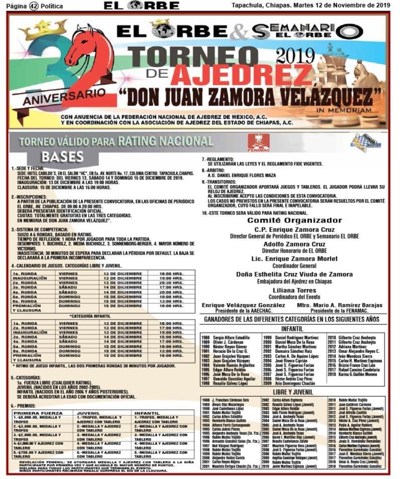 """El periódico """"El Orbe"""" realiza la edición 32 de su torneo"""