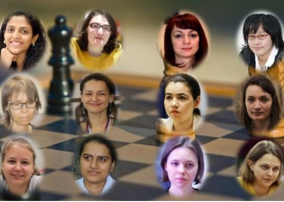 Jugadoras del Gran Premio FIDE Femenino Monaco 2019