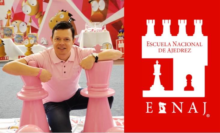 Rodrigo Alfonso Ferriz Barrios y logo Esnaj