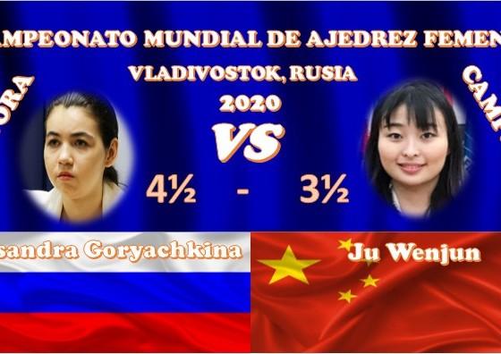 Aleksandra Goryachkina y Ju Wenun