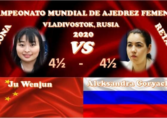 Campeonato Mundial de ajedrez femenil VLADIVOSTOK, RUSIA 2020 ronda 9