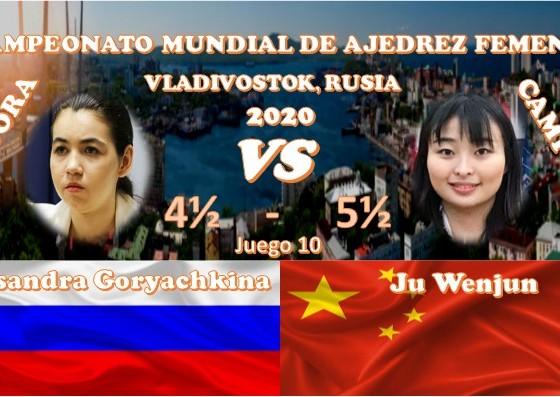 Campeonato Mundial de ajedrez femenil VLADIVOSTOK, RUSIA 2020 ronda 10