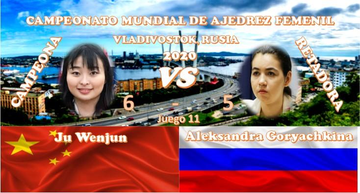 Campeonato Mundial de ajedrez femenil VLADIVOSTOK, RUSIA 2020 ronda 11