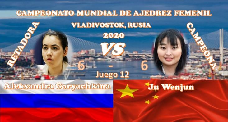 Campeonato Mundial de ajedrez femenil VLADIVOSTOK, RUSIA 2020 ronda 12