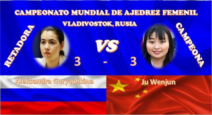 Ju Wenjun y Aleksandra Goryachkina
