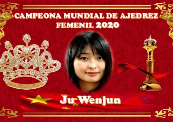Ju Wenjun Campeona Mundial Femenil de ajedrez 2020