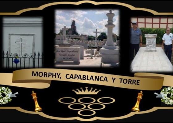 Tumbas de MORPHY, CAPABLANCA Y CARLOS TORRE