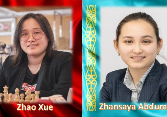 Zhao Xue y Zhansaya Abdumalik