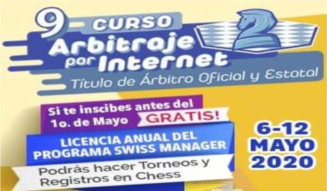 Curso por internet para titulación de árbitros de ajedrez
