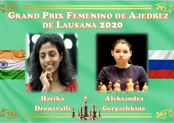 Harika Dronavalli y Aleksandra Goryachkina