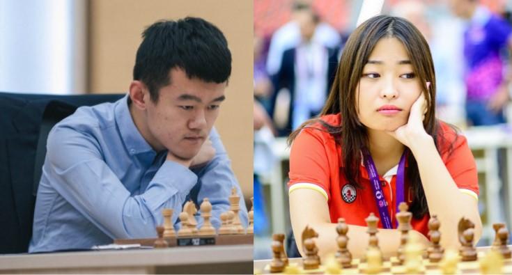 Ding Liren y Ju Wenjun