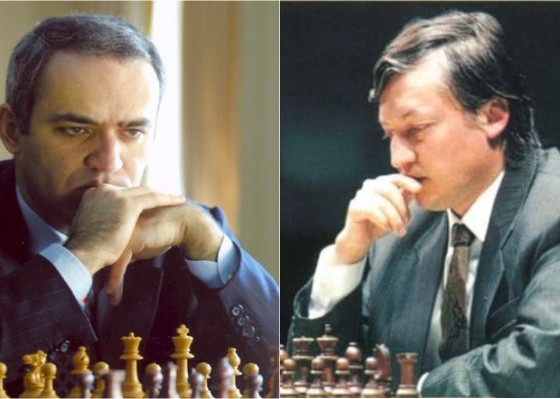 Kasparov y Karpov