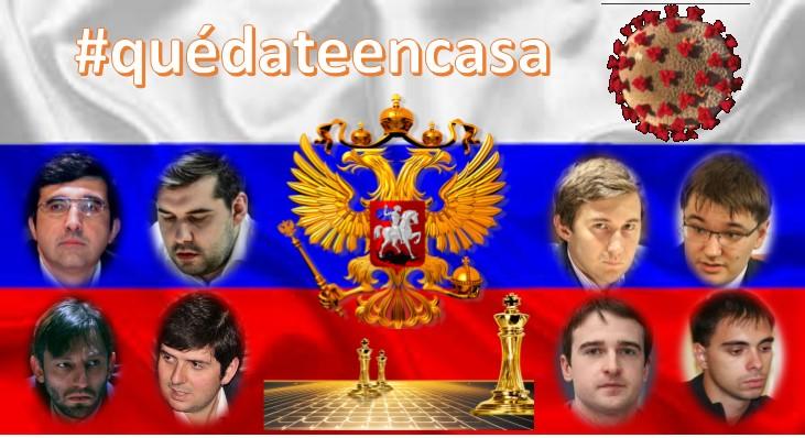 Vladimir Kramnik, Ian Nepomniachtchi, Alexander Grischuk, Sergey Karjakin, Peter Svidler, Evgeny Tomashevsky, Ernesto Inarkiev, Alexander Riazantsev