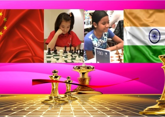Lu Miaoyi de China y Shri B. Savitha de India