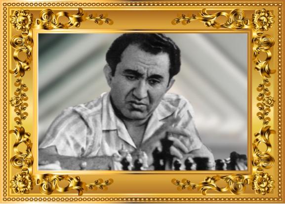 Tigrán Petrosián con marco dorado